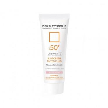 فلوئید ضد آفتاب رنگی رز بژ مناسب پوست چرب Dermatypique SPF50