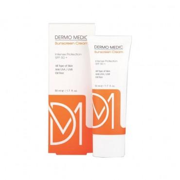 کرم ضد آفتاب بی رنگ با DERMO MEDIC SPF50