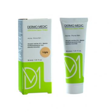 كرم ضد جوش رنگی لايت Dermo Medic 30ml