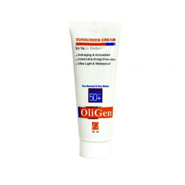 کرم ضد آفتاب و ضد چروک رنگی پوست خشک و معمولی با Oligen SPF50