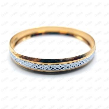 النگو تراش دار سفید طلایی Tandis 0429
