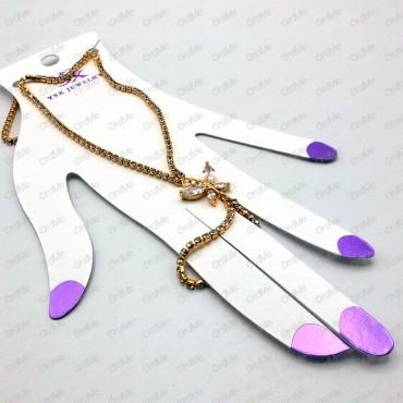 دستبند انگشتری  YX طلایی Tandis 1042