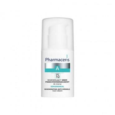 کرم بازسازی کننده و ضد چروک صورت همراه با ضد آفتاب spf10 سنسی رنئال Pharmaceris
