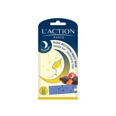 ماسک شب درخشان کننده پوست L'ACTION