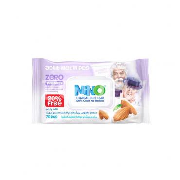 دستمال مرطوب درب دار دست و صورت بزرگسالان  Nino