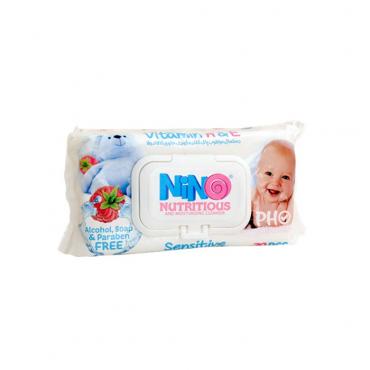 دستمال مرطوب کودک حساس میوه ای درب دار Nino