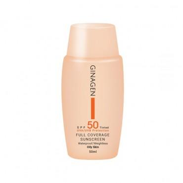 کرم ضد آفتاب رنگی پوست چرب با Ginagen SPF50