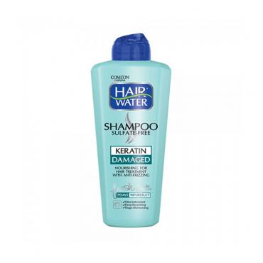 شامپو کراتین هیر واتر مخصوص موهای آسیب دیده Comeon