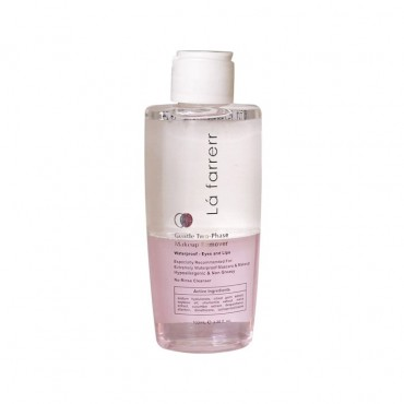 محلول آرایش پاک کن دو فاز مناسب آرایش ضد آب Lafarrerr 100ml