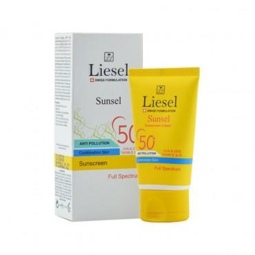 کرم ضد آفتاب سان سل مناسب پوست مختلط با Liesel SPF50