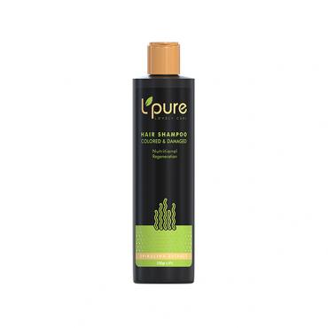 شامپو جلبک اسپیرولینا مناسب موی رنگ شده و آسیب دیده Lpure