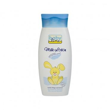 لوسیون شیر رطوبت رسان و محافظ بدن نوزاد و کودک babyline