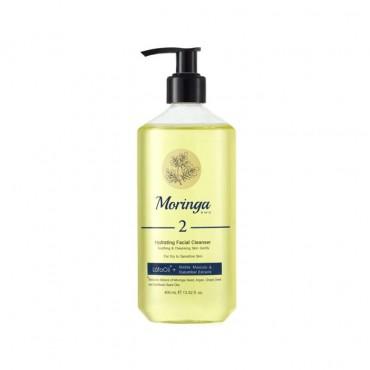 ژل شستشو و آبرسان صورت مناسب پوست های خشک و حساس Moringa Emo 400ml