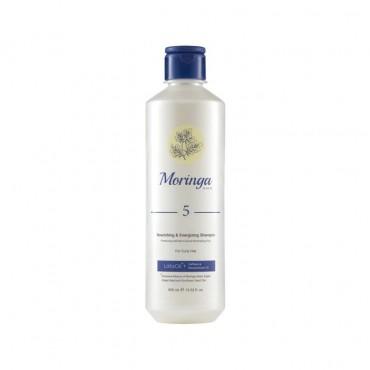 شامپو مغذی و انرژی بخش مناسب موهای فر Moringa Emo 400ml
