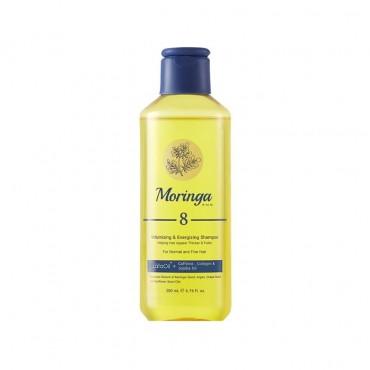شامپو حجم دهنده و انرژی بخش مناسب موهای معمولی و نازک Moringa Emo 200ml