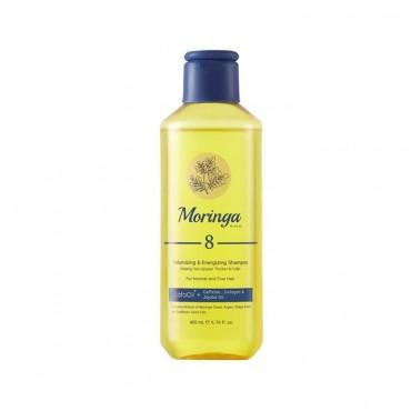 شامپو حجم دهنده و انرژی بخش مناسب موهای معمولی و نازک Moringa Emo 400ml