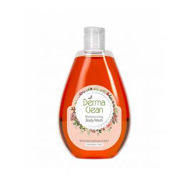شامپو بدن مرطوب و نرم کننده با عصاره شکوفه هلو Derma Clean
