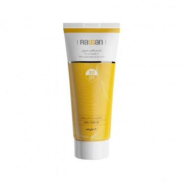 کرم ضد آفتاب معمولی با Rassan SPF30