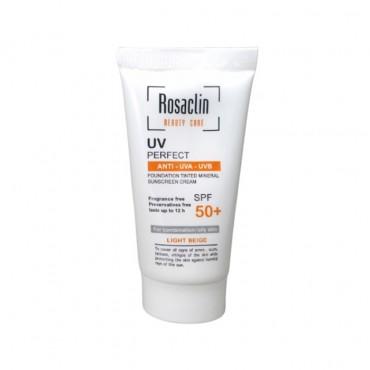 کرم ضد آفتاب پوست چرب و مختلط با Rosaclin SPF50