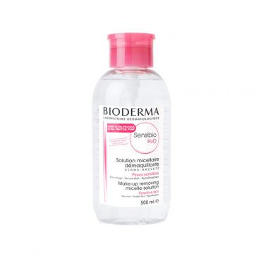 محلول پاک کننده آرایش و آلودگی میسلار بایودرما مدل Sensibio H2O