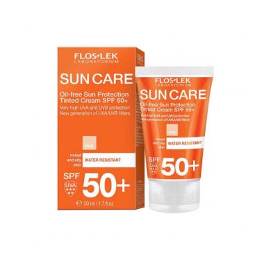 کرم ضد آفتاب رنگی پوستهای چرب Floslek