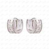 گوشواره حلقه ای سفید Xuping 2968
