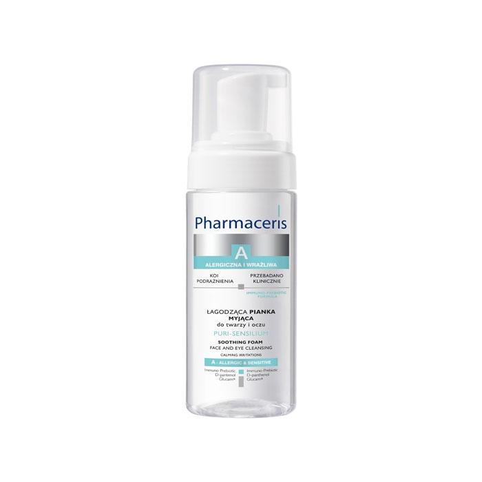 فوم پاککننده و تسکیندهنده صورت و چشم پیوری سنسیلیوم  Pharmaceris