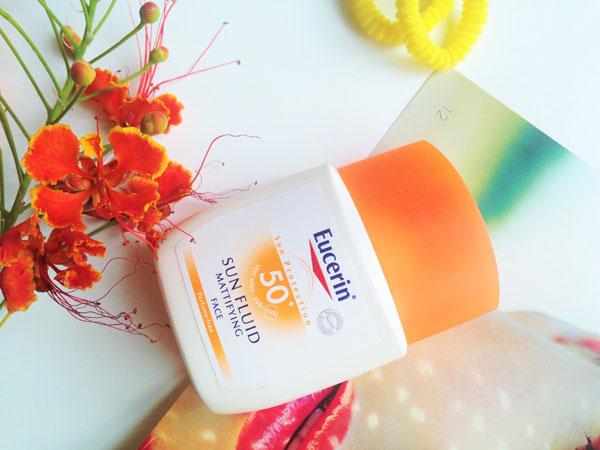 فلوئید ضد آفتاب +SPF 50 (مات کننده) Eucerin