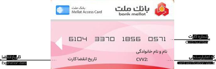اطلاعات کارت بانکی